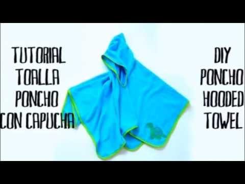 Cómo hacer una toalla poncho con capucha para niños