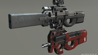 fallout4 MOD Review - FN P90 v1.1