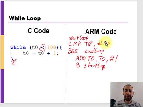 ARM Assembly: For Loops & While Loops