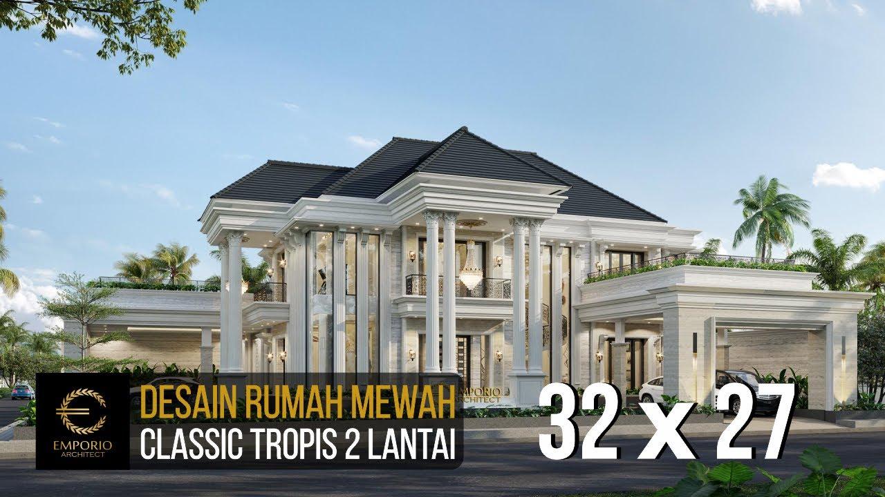 Video 3D Desain Rumah Classic 2 Lantai Ibu Sari - Aceh