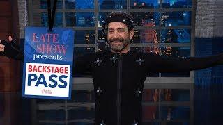 Late Show Backstage Pass: CGI Stephen With Tony Shalhoub