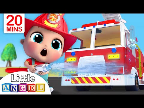 Fire Truck Song | Firefighter to the Rescue | Nursery Rhymes - Little Angel