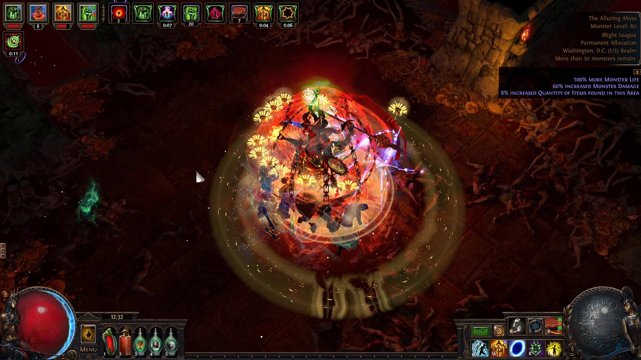 3 9 Herald Of Agony Melee Necro Get In Monsters Faces Safely 5m Shaper Dps 8 4klife Fortify Poe 3 9 Witch Build Build Of Exile It causes the linked melee skills to apply the fortify buff on the user, which reduces incoming damage from hits by 20%. 3 9 herald of agony melee necro