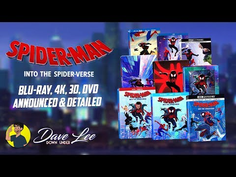 SPIDER-MAN: INTO THE SPIDER-VERSE - Blu-ray, 4K, 3D, DVD Announced & Detailed