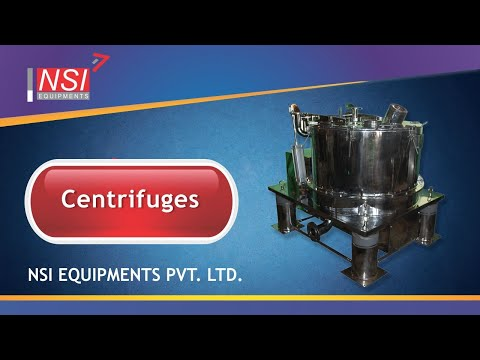 Centrifuges-Bottom Discharge Type