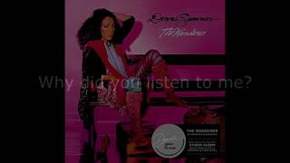 "Donna Summer - Breakdown LYRICS SHM ""The Wanderer"" 1980"