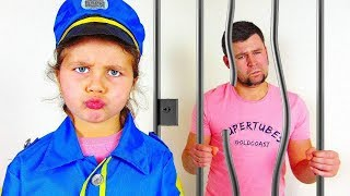 Milana and dad - a story for kids about police