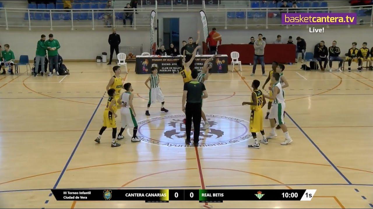 U13M - CANTERA CANARIAS vs REAL BETIS.- III Torneo Infantil Ciudad de Vera (BasketCantera.TV)