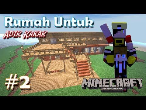 Download Rumah Nya Adik Kakak | Survival Series MCPE #2 HD Mp4 3GP Video and MP3