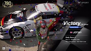 JOT381 GRAN TURISMO SPORT 230918 TOKYO EXPRESS NISSAN GT-R 2nd to 1st ONLINE RACE 10 LAPS 780th WIN
