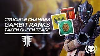 Destiny 2: Redrix Quest, Gambit Ranks & Queen Tease! Crucible Changes, Clan Update & more!