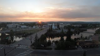 Fairbanks, Alaska Summer Sunset/Sunrise Timelapse