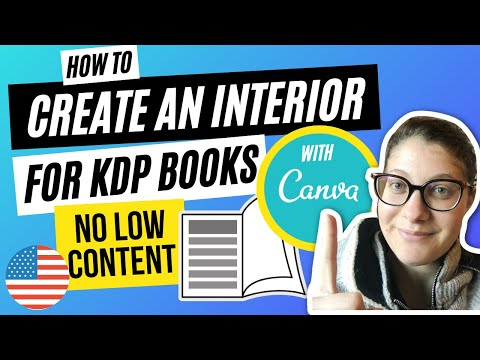 How to Create an Interior with Canva for your No Low Content Books   Amazon KDP Self Publishing