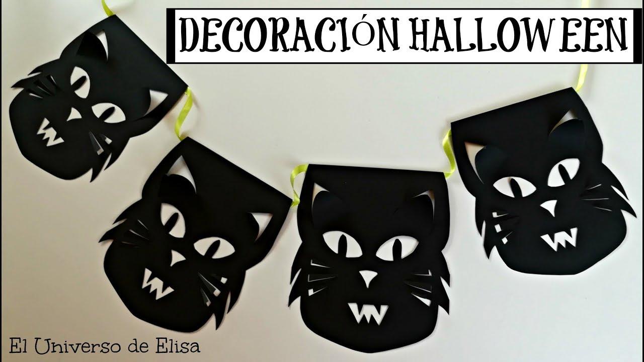 Decoración para Halloween/Día de los Muertos, Guirnalda Gatos Furiosos