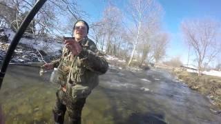 preview picture of video 'Steelhead fishing in Erie, Pa 2015'