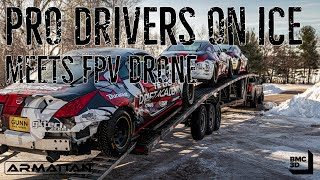 FPV Drone Meets Formula Drift Drivers on ICE!! | Part 1