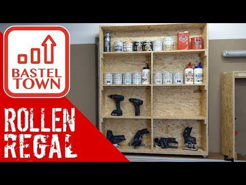 Werkstattregal selber bauen: Rollbares Werkstattregal mit einfacher Anleitung