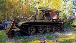 Czarnobyl 2018 - napromieniowany chwytak pojazdu WZT w Prypeci
