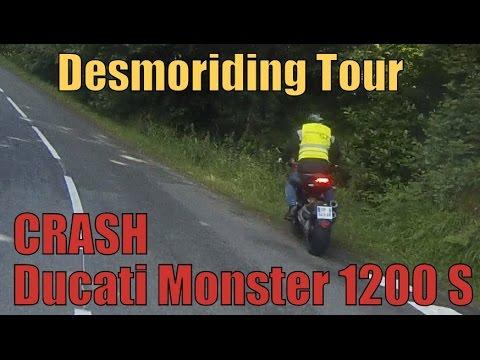 CRASH Ducati Monster 1200 S/ Desmoriding Tour [Hypermotard]