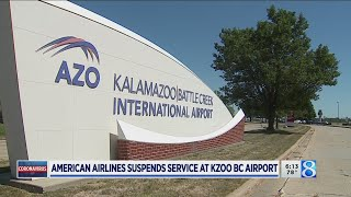 American Airlines will drop flights to 15 cities, including Kzoo, in October