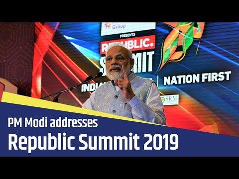 PM Modi addresses Republic Summit 2019 in New Delhi   PMO