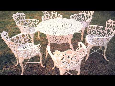 en venta mesa y sillas de jardin metalicas morelia