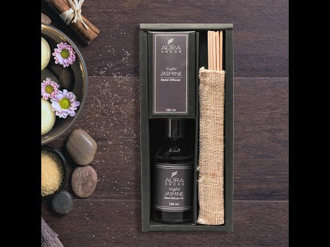 AuraDecor Reed Diffuser Gift Pack with New Reed Sticks