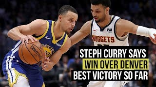 Stephen Curry: Warriors win probably best game of the season