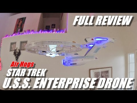Star Trek U.S.S. Enterprise Drone - Full Review - [Unboxing, Flight Test, Pros & Cons]