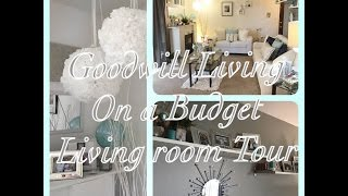 Goodwill Living On A Budget | Living Room Tour