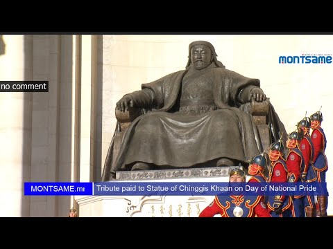 Tribute paid to Statue of Chinggis Khaan on Day of National Pride