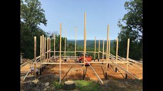 Pole Barn House Construction Day 1