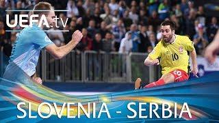 Futsal EURO highlights: Slovenia v Serbia