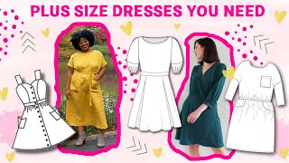 I LOVE These Summer Dress Sewing Patterns | Plus Size Inclusive