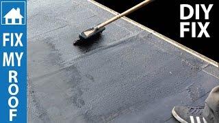 DIY Flat Roof Repair - Easy Paint on Fix