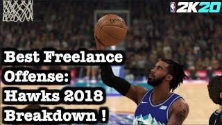 "NBA 2K20 Freelance Offense Tutorial : How to Score Easily, Best Offense Freelance  in 2K20 ""Hawks"""