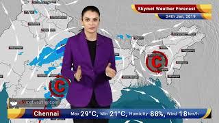 Weather Forecast Jan 24: Light To Moderate Rains Over Jammu And Kashmir, Himachal Pradesh