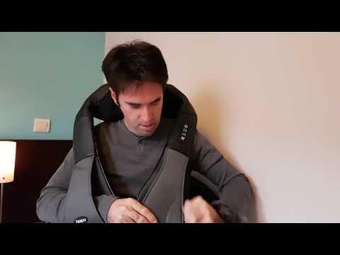 Masejeador cervical Naipo.  Unboxing y prueba de masaje shiatsu