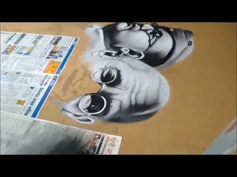 portrait rangoli design independence day by ganesh khare