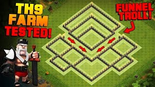 Clash of Clans | NEW TH9 Farming Base with BOMB TOWER | BEST Town Hall 9 Hybrid Base + REPLAYS
