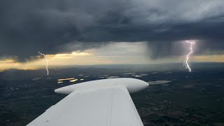 Flying to Alaska & Russia, Thunderstorms in the Mountains