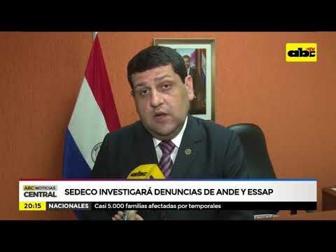 SEDECO investigará denuncias de Ande y Essap