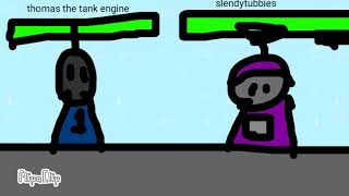 Thomas the slender engine vs slendytubbies