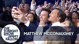 Matthew McConaughey Takes His First Instagram Selfie with Jimmy and UT Austin Students