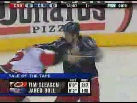 Tim Gleason vs Jared Boll