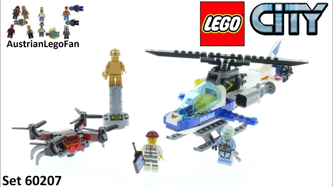 Lego City 60207 Sky Police Drone Chase - Lego Speed Build Review