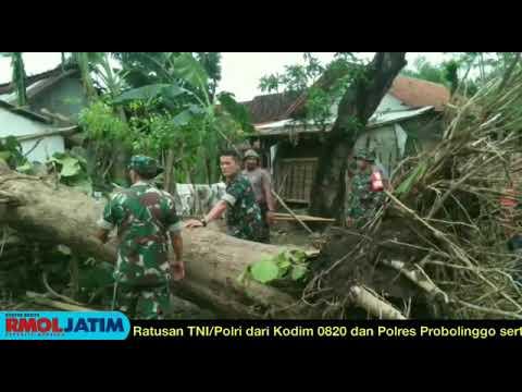 TNI-Polri dan GP Ansor Bantu Korban Puting Beliung
