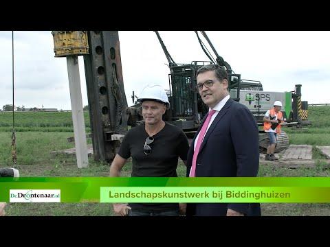 """Landschapskunstwerk bij Elburgerbrug loopt vertraging op: """"Grond moet goed drogen"""""""