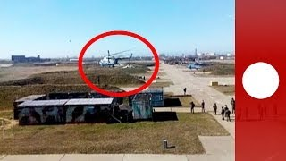 Video: Ukrainian pilots escape with aircraft as troops