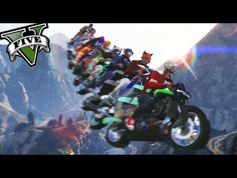 GTA 5 Online - LA TORRE DE MOTOS - La locura ha llegado! XD - NexxuzHD